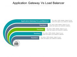 Application Gateway Vs Load Balancer Ppt Powerpoint Presentation Pictures Shapes Cpb
