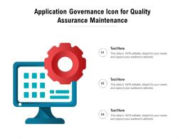 Application Governance Icon For Quality Assurance Maintenance
