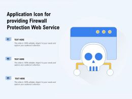 Application Icon For Providing Firewall Protection Web Service