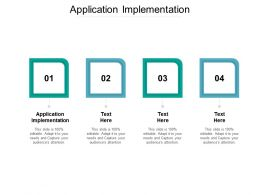 Application Implementation Ppt Powerpoint Presentation Visual Aids Model Cpb