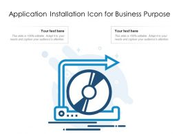 Application Installation Icon For Business Purpose