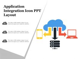 Application Integration Icon Ppt Layout