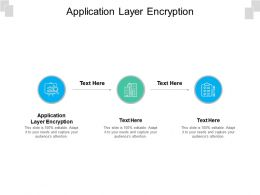 Application Layer Encryption Ppt Powerpoint Presentation Summary Infographics Cpb