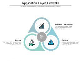 Application Layer Firewalls Ppt Powerpoint Presentation File Design Inspiration Cpb