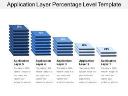 Application Layer Percentage Level Template