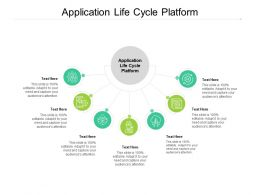 Application Life Cycle Platform Ppt Powerpoint Presentation Styles Icons Cpb