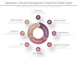 Application Lifecycle Management Powerpoint Slide Clipart