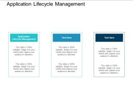 Application Lifecycle Management Ppt Powerpoint Presentation Pictures Template Cpb