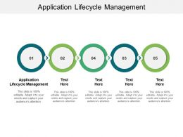 Application Lifecycle Management Ppt Powerpoint Presentation Show Topics Cpb
