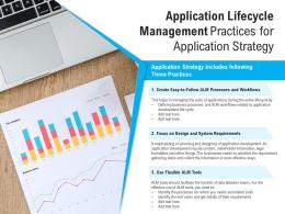 Application Lifecycle Management Practices For Application Strategy
