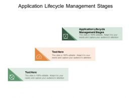 Application Lifecycle Management Stages Ppt Powerpoint Presentation Slides Cpb