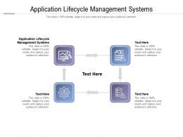 Application Lifecycle Management Systems Ppt Powerpoint Presentation Infographic Cpb