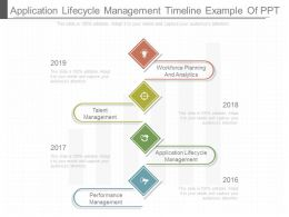 Application Lifecycle Management Timeline Example Of Ppt
