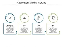 Application Making Service Ppt Powerpoint Presentation Pictures Slide Download Cpb