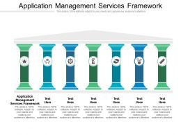 Application Management Services Framework Ppt Powerpoint Presentation Show Graphics Example Cpb