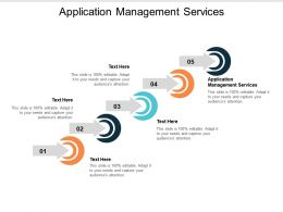 Application Management Services Ppt Powerpoint Presentation File Example Topics Cpb