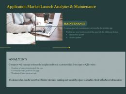 Application Market Launch Analytics And Maintenance Ppt Powerpoint Show