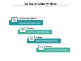Application Maturity Model Ppt Powerpoint Presentation Summary Objects Cpb
