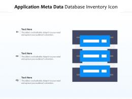 Application Meta Data Database Inventory Icon