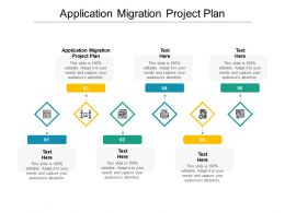 Application Migration Project Plan Ppt Powerpoint Presentation Ideas Visual Aids Cpb