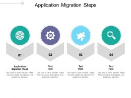 Application Migration Steps Ppt Powerpoint Presentation Model Graphics Cpb