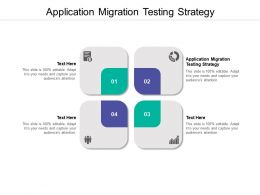 Application Migration Testing Strategy Ppt Powerpoint Presentation Model Cpb
