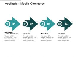 Application Mobile Commerce Ppt Powerpoint Presentation File Infographics Cpb