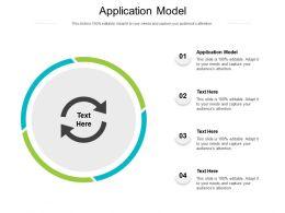 Application Model Ppt Powerpoint Presentation Ideas Slideshow Cpb