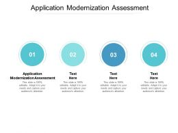 Application Modernization Assessment Ppt Powerpoint Presentation Model Structure Cpb