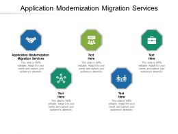 Application Modernization Migration Services Ppt Powerpoint Presentation Gallery Designs Cpb