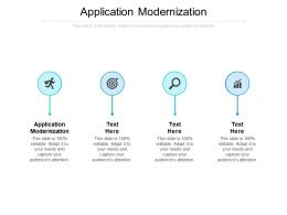 Application Modernization Ppt Powerpoint Presentation Gallery Professional Cpb