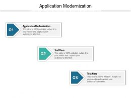 Application Modernization Ppt Powerpoint Presentation Professional Samples Cpb