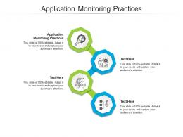 Application Monitoring Practices Ppt Powerpoint Presentation Ideas Slideshow Cpb