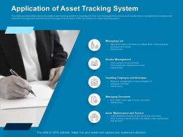 Application Of Asset Tracking System Management Ppt Powerpoint Presentation Mockup