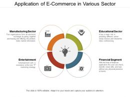 Application Of E Commerce In Various Sector