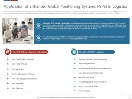 Application Of Enhanced Global Logistics Technologies Good Value Propositions Company Ppt Grid