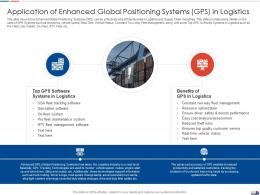 Application Of Enhanced Global Strategies Create Good Proposition Logistic Company Ppt Tips