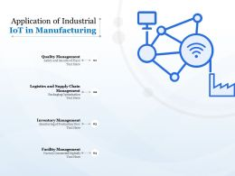 Application Of Industrial Iot In Manufacturing