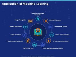 Application Of Machine Learning Ppt Powerpoint Presentation Ideas Pictures
