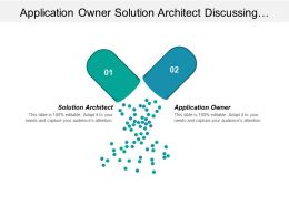 Application Owner Solution Architect Discussing Each Team Members