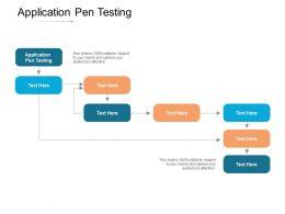 Application Pen Testing Ppt Powerpoint Presentation Model Diagrams Cpb