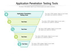 Application Penetration Testing Tools Ppt Powerpoint Presentation Styles Slide Cpb