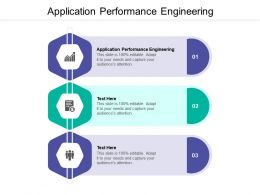 Application Performance Engineering Ppt Powerpoint Presentation Summary Cpb