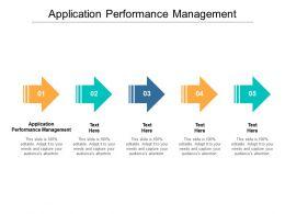 Application Performance Management Ppt Powerpoint Presentation Outline Deck Cpb