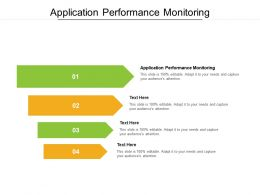 Application Performance Monitoring Ppt Powerpoint Presentation File Files Cpb