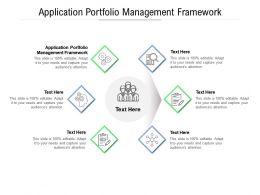 Application Portfolio Management Framework Ppt Powerpoint Presentation Show Cpb