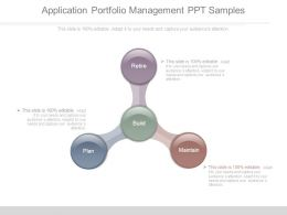 Application Portfolio Management Ppt Samples