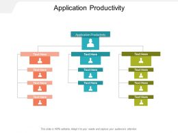 Application Productivity Ppt Powerpoint Presentation Model Grid Cpb