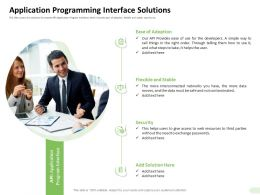 Application Programming Interface Solutions Adoption Ppt Example 2015