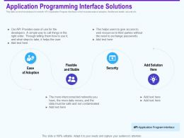 Application Programming Interface Solutions Flexible Ppt Powerpoint Ideas